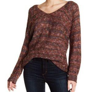 Deep V-Neck Strap Back Sweater